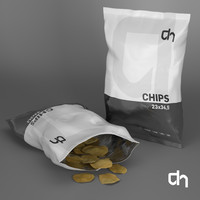 chips 23x34 5cm grams 3d model