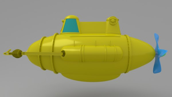 submarine investigation 3d model