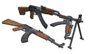 3d ak-47 pistol rpk