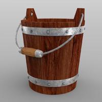wooden bucket max free