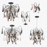 3d chandelier manica lightstar lamp model