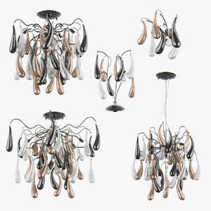 3d chandelier manica lightstar lamp model