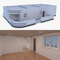 streamline moderne home interior 3d obj