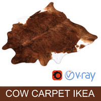 IKEA carpet Cow hide KOLDBY2 Brown rug