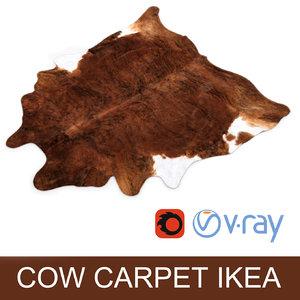 cow hide carpet rug max