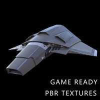 3d model star fighter space ready