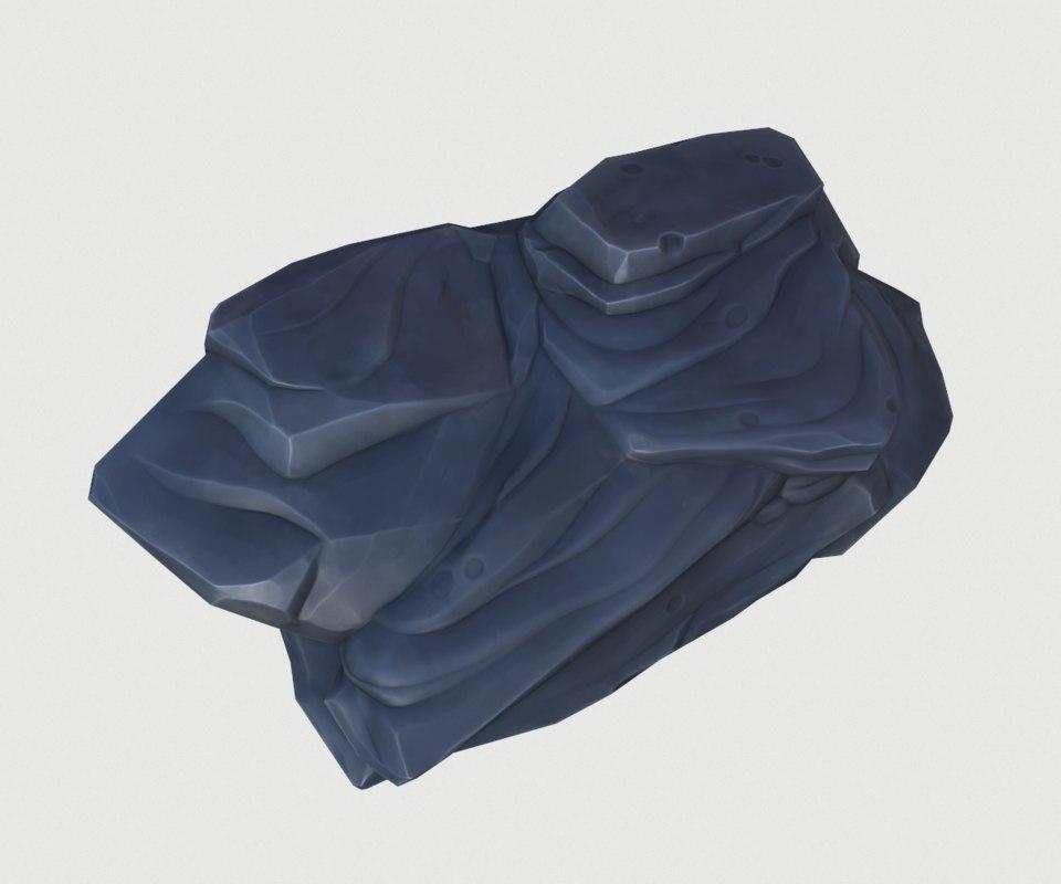 fbx cartoon volcanic stone