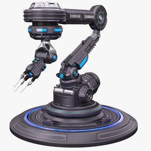 3d model robotic arm 3