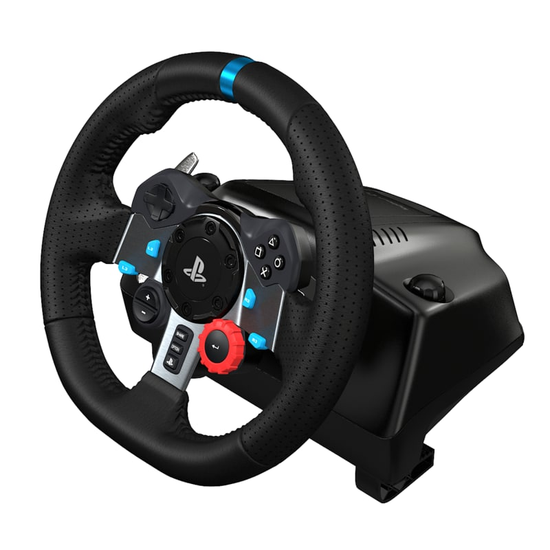 logitech g29 steering wheel 3d model