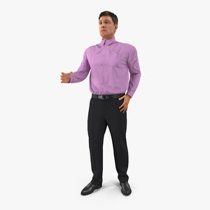 3d men business casual dress
