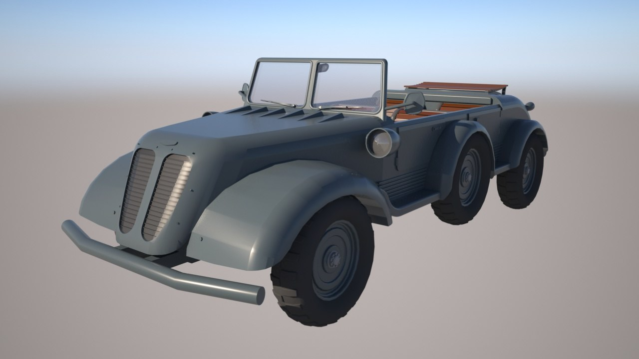 3d model of vintage tempo car