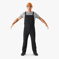 worker black uniform 3ds