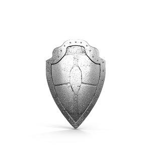 knight shield 3d model