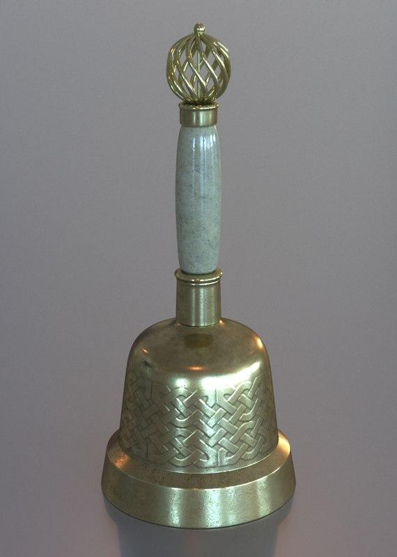 little bell 3d max