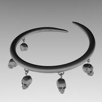 Skulls bracelet (charms)