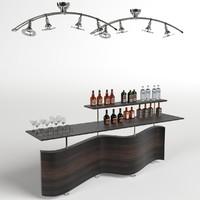 open shelf scene 3d model