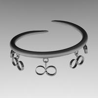 3d silver bracelet charms model
