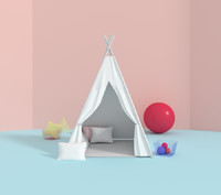 tipi tent 3d model