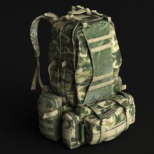 3d model of backpack