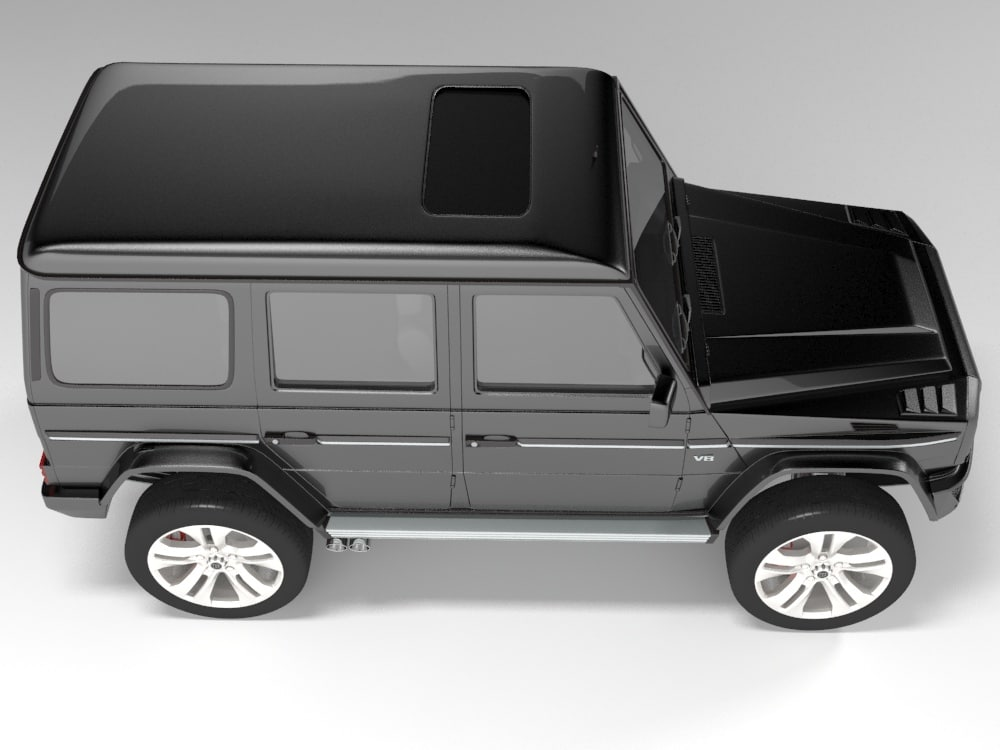 black gelandewagen brabus version 3d model