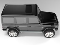 black gelandewagen brabus version 3d model