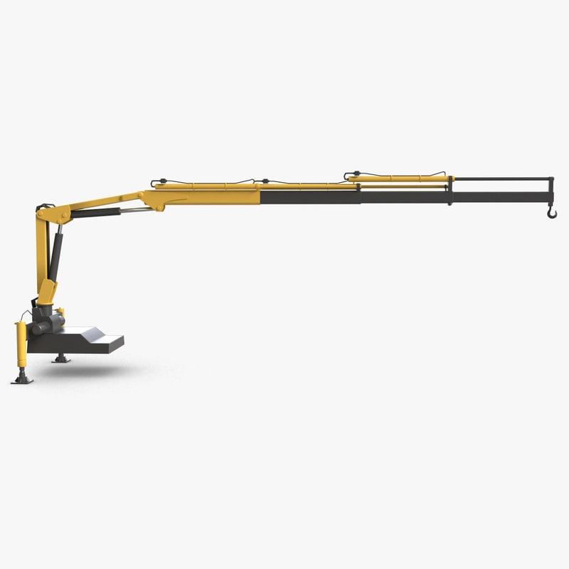 auto crane 3d model