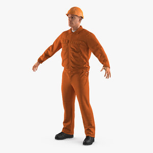 obj builder wearing orange coveralls