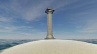 ancient column 3ds