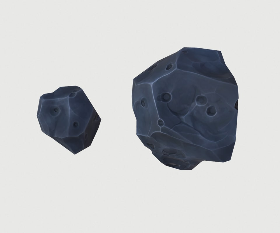 small volcanic stones obj