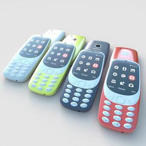 nokia 3310 3d c4d
