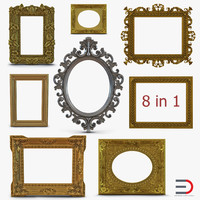 3d baroque picture frames 3