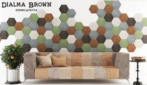 dialma brown set table 3d max