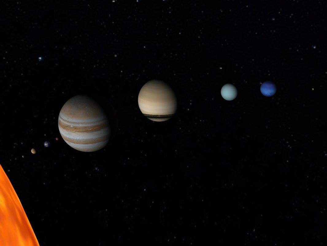 solar sun planet 3d model