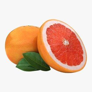 realistic grapefruit pose 2 3d 3ds