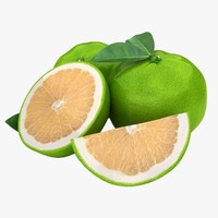 realistic grapefruit green 1 3ds