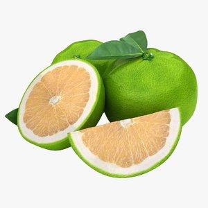 realistic grapefruit green 1 3ds