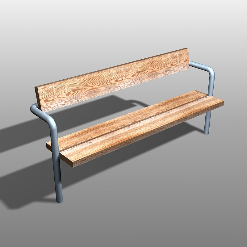 3d 3ds park bench