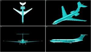 vickers vc-10 transport aircraft 3d dwg