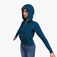 3d max women cloth female mannequin