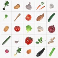 vegetable potato radish 3d 3ds