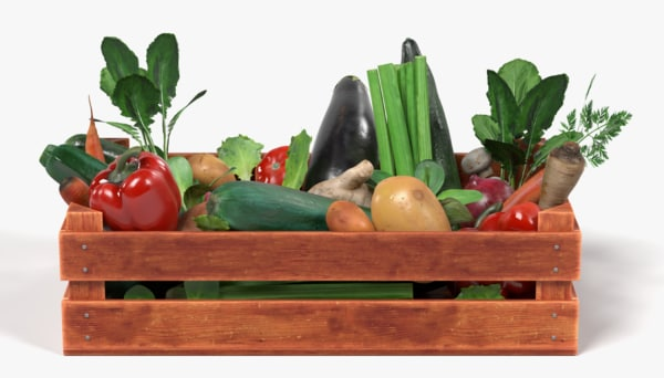 vegetables box 3d 3ds