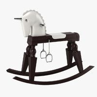 moooi arion rocking horse 3d max