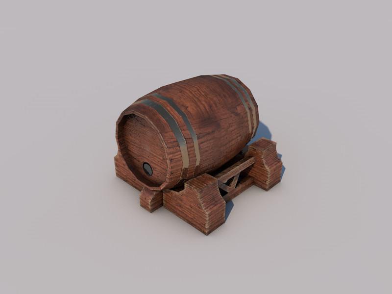 3d model of barrel games