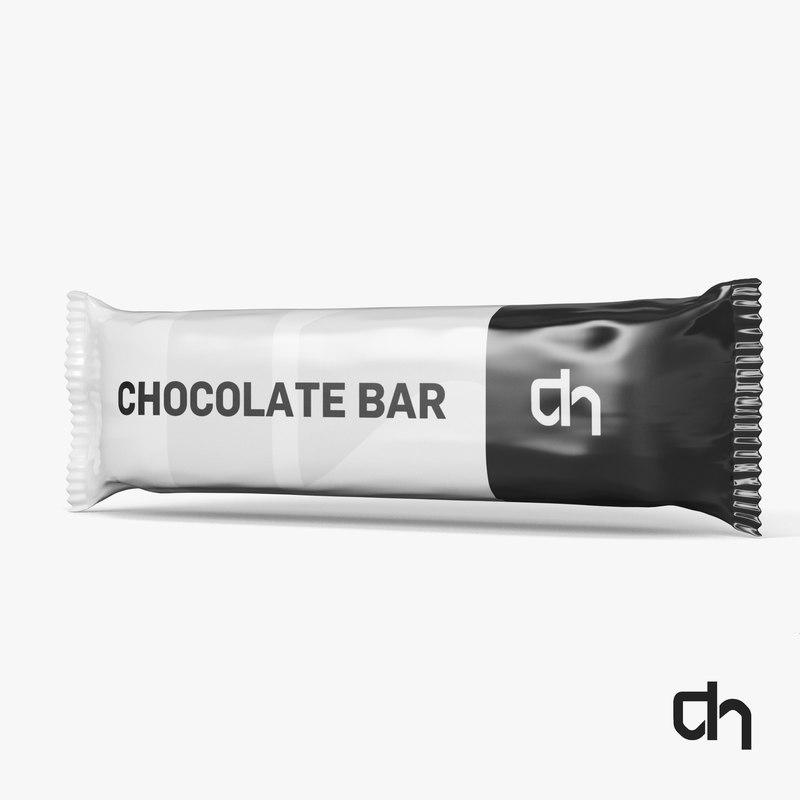 chocolate bar 3d obj