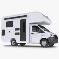 gazelle motorhome camper trailer 3d model