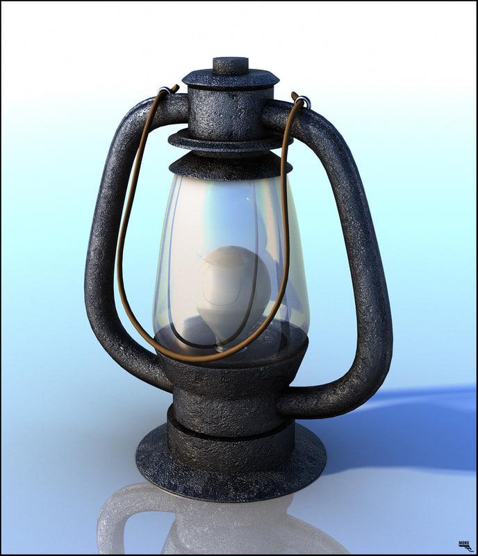 3d model lantern light
