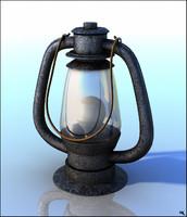 lantern hand retro 3d model