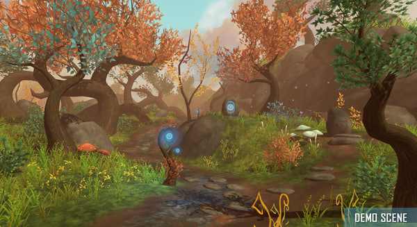 3d model of fantasy forest root