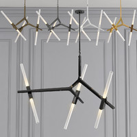 3d chandelier 6 lighting model