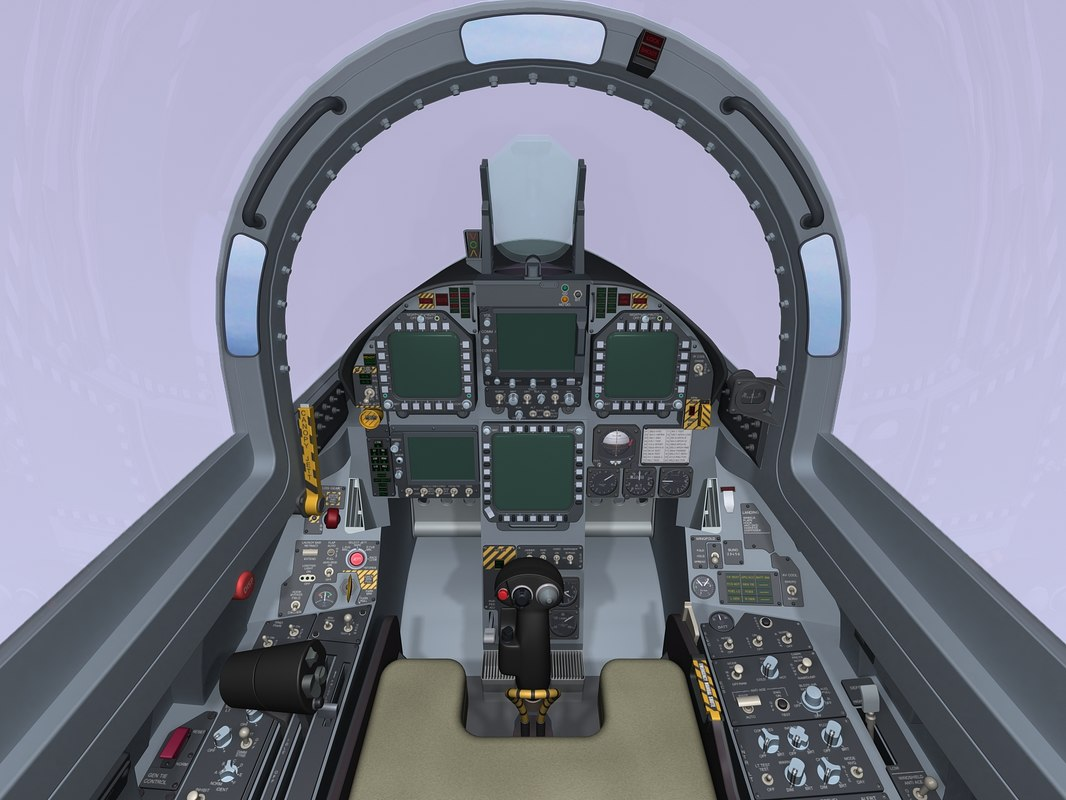 3d super hornet cockpit fuselage